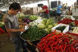 Singapore vegetable market