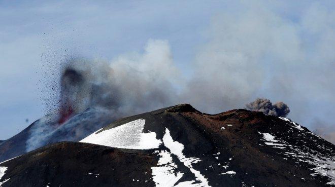 Mount Etna erupts