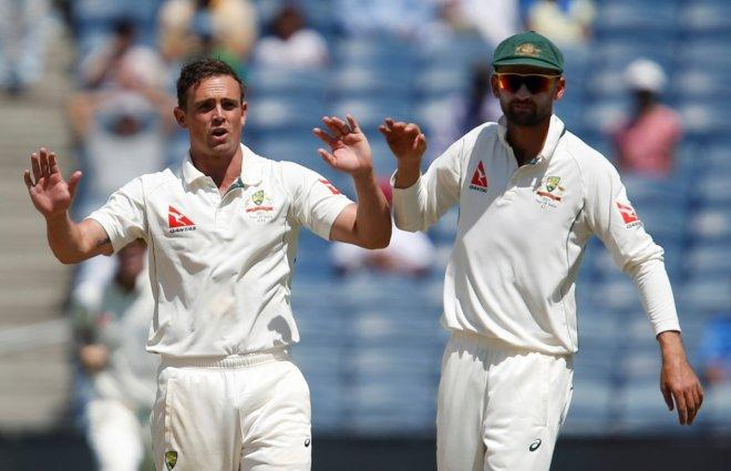 Steve O'Keefe and Nathan Lyon