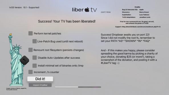 LiberTV jailbreak for Apple TV 4 released