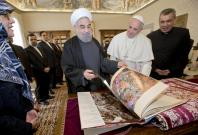 Pope Francis meets Iran president Hassan Rohani