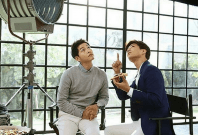 Song Joong-ki  and Park Bo Gum in the new Domino's advertisement