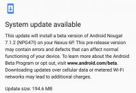 Android 7.1.2 beta 2 update