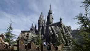 Hogwarts School at The Wizarding World of Harry Potter theme park at the Universal Studios