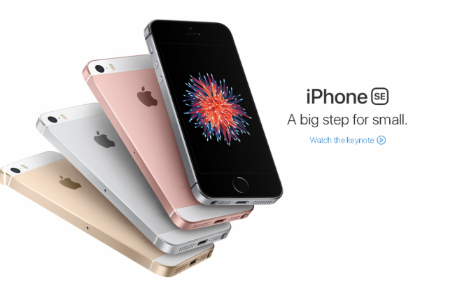 iPhone SE new storage models