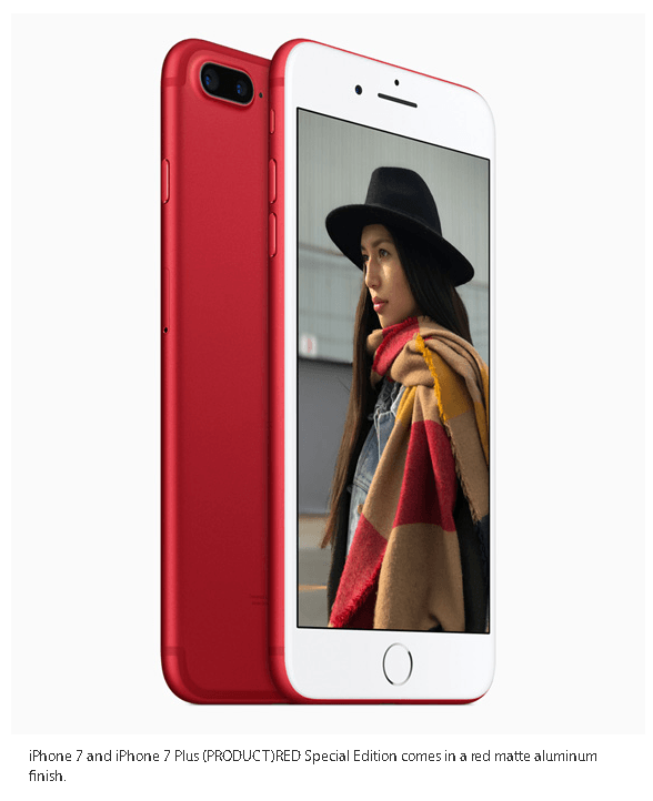 iPhone 7 matte Red variant