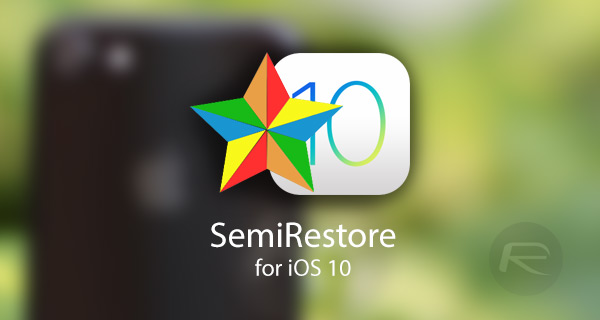 How to restore iOS 10 2 via SemiRestore Lite without losing