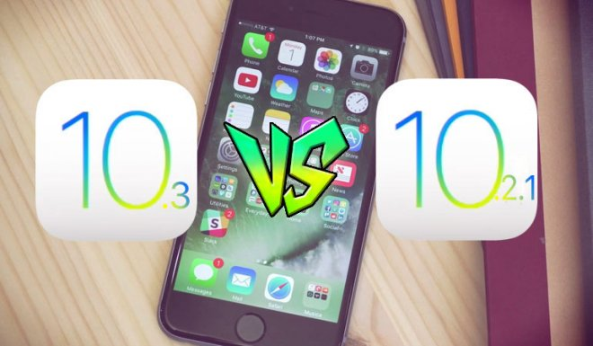 iOS 10.3 vs iOS 10.2.1 speed test comparison