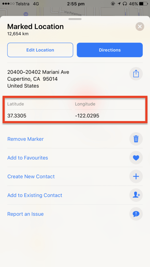 Viewing GPS coordinates on Apple or Google Maps