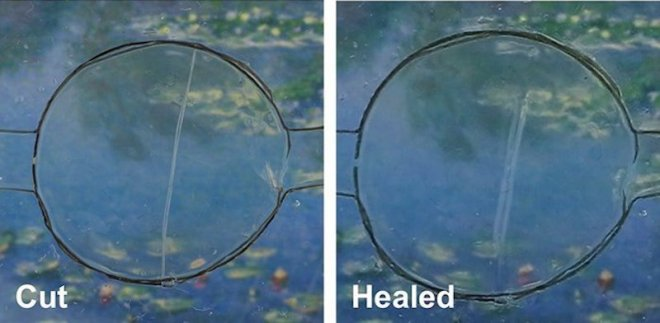 Smartphone screen healing