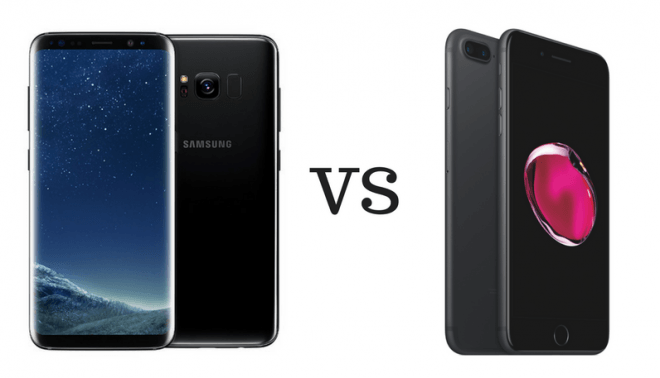 Galaxy S8 Plus vs iPhone 7 Plus