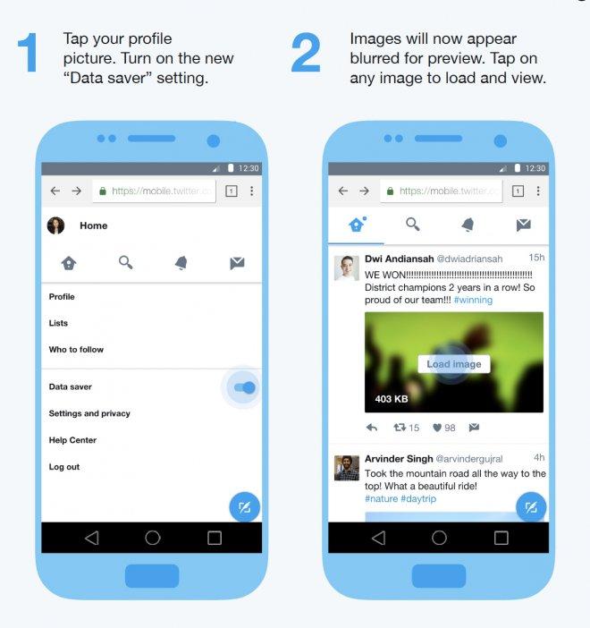 Twitter Lite - Data Saver mode