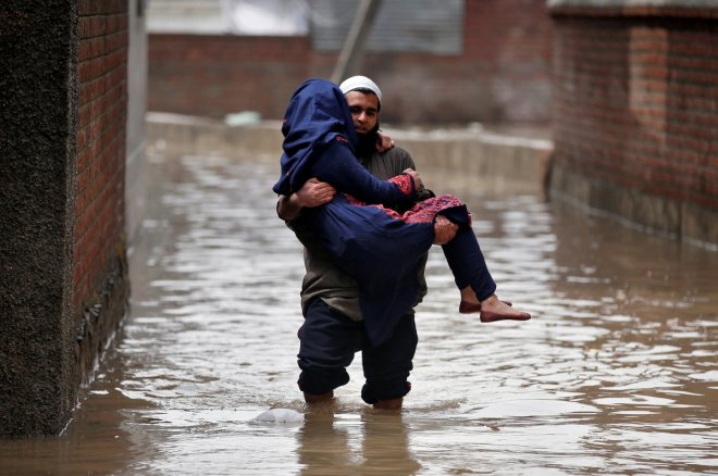 Six dead, two missing as floods hit Indian-ruled Kashmir