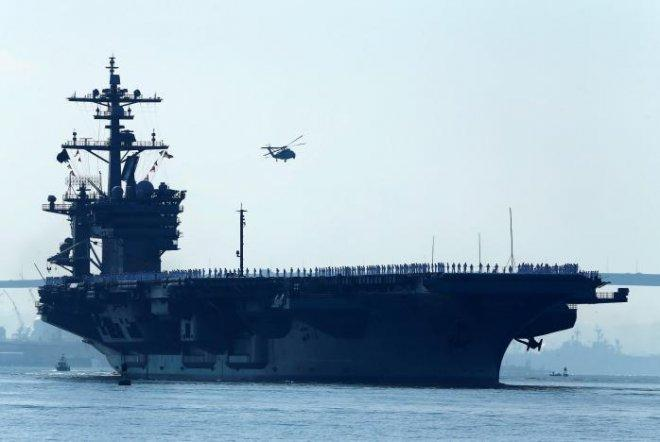 US Navy strike group to move toward Korean peninsula