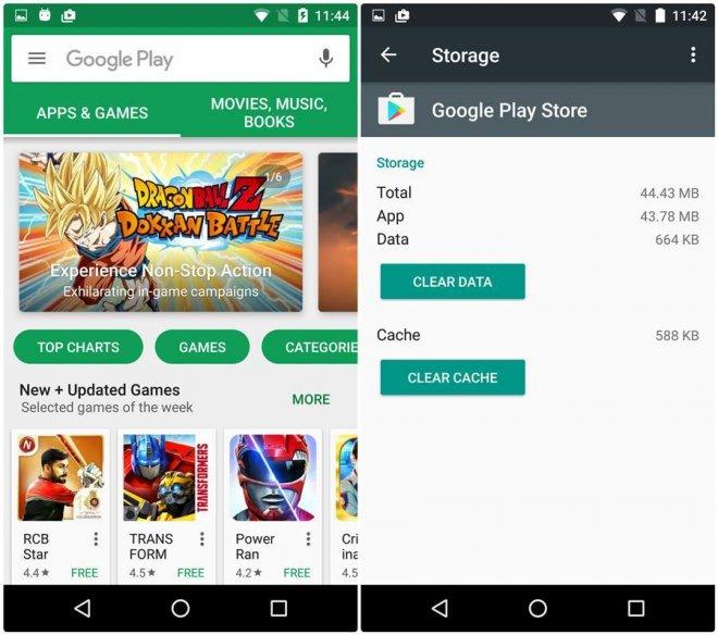 Google Play Store White screen