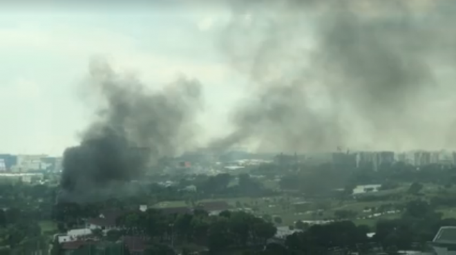 Fire in Singapore