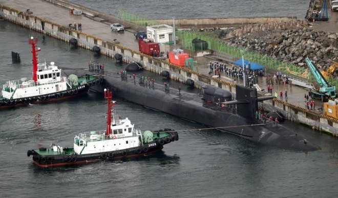 U.S. submarine makes South Korea port call