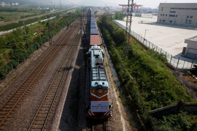 First direct Britain-China freight train