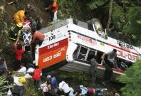 Multiple car collision, including a tour bus, kills 11 on Indonesia's Java island, 50 injured