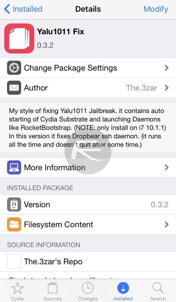 Yalu1011 fix for Yalu iOS 10.1.1 jailbreak