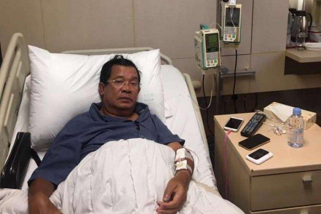Hun Sen hospitalised in Singapore