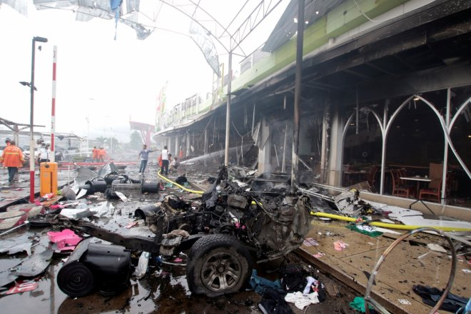 Thailand twin blasts: Car bomb injures at least 60 outside busy Pattani supermarket