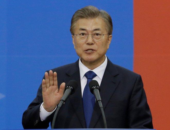 South Korea's Moon Jae-in sworn in