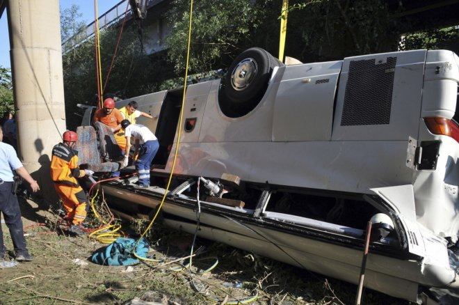 At least 23 killed after tourist bus falls from cliff in Turkey