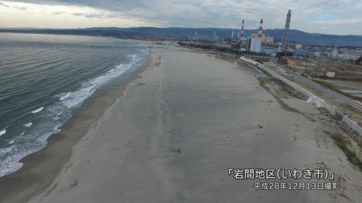 Drone footage shows Japans progress rebuilding Fukushima shoreline