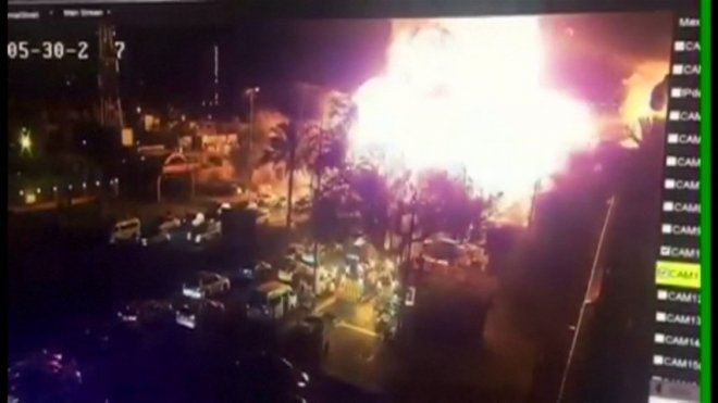 CCTV footage shows explosion at Baghdad ice cream shop that killed 13