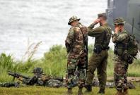 US MARINES DURING WAR GAMES IN TERNATE CAVITE, PHILIPPINES.
