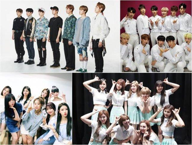 Most talked about K-pop boy, girl groups for June?