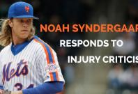 New York Mets pitcher Noah Syndergaard responds to injury criticism