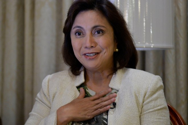 Philippines' Vice President Leni Robredo